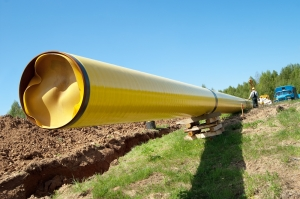 Installation of a gas pipeline