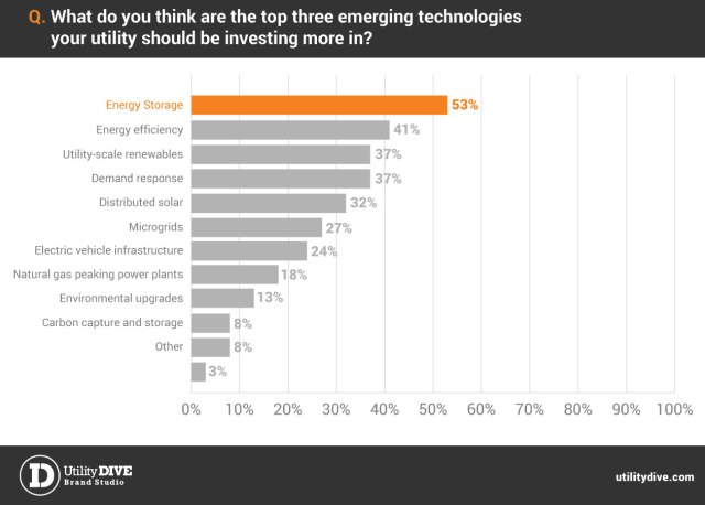 Top three emerging technologies survey