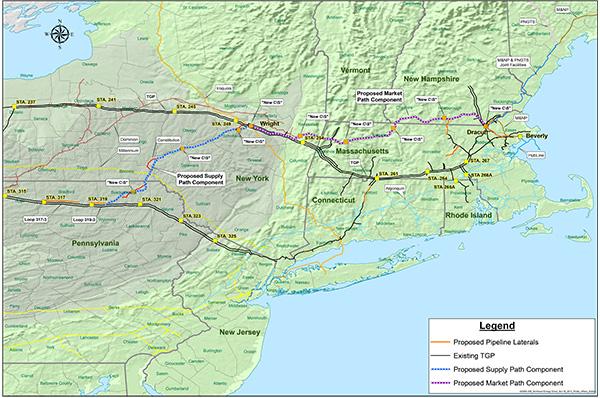 pipeline map NE