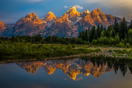 Dramatic Grand Teton Sunrise